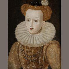 British School (17th Century) Portrait of Mary Queen of Scots, Estimate: £300 - 400 US$ 470 - 620 €380 - 510 Attribution incorrect.