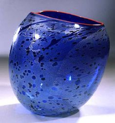 Editions by Dale Chihuly - Cobalt Blue Basket. Cobalt is Element # 27. It is used to make blue or green pigment.