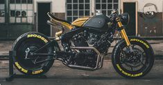 Yamaha Cafe Racer, Cafe Bike, Futuristic Motorcycle, Cafe Racer Motorcycle, Motorcycle Types, Custom Motorcycles, Custom Bikes, Bicycle Painting, Bicycle Art