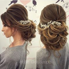 Bridal Hairstyles Inspiration : Lovely bridal look Make up hairstyles Web: www.e… - Wedding Hairstyles Wedding Hairstyles For Women, Bride Hairstyles, Pretty Hairstyles, Evening Hairstyles, Simple Hairstyles, Hairstyle Ideas, Wedding Hair And Makeup, Hair Makeup, Hair Wedding