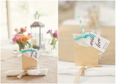 Rustic Wedding Favor Bag