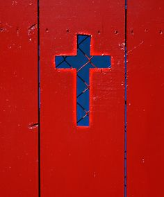 Colors ~ Red and Blue Love Blue, Red White Blue, Cobalt Blue, Color Combinations, Color Schemes, Sign Of The Cross, Christian Religions, Colour Board, Jesus Saves