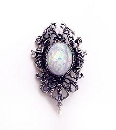 Victorian opal brooch opal jewelry antique by CindersJewelryDesign, $37.00