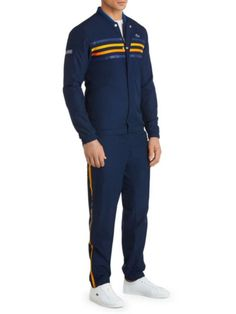 30d724717  FASH3150  Mens3050Athletic  Stripes  ColorCoordinated  Sleek Lacoste  Tracksuit