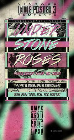 Vintage Indie Poster/Flyer No.3 - Concerts Events