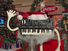 Ambar Navarro's animated music video for the Hypberbubble song, A Synthesizer for Christmas.
