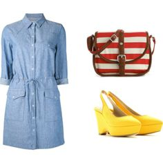 """yellow wedges"" by noanyedges on Polyvore"