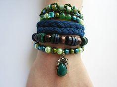 Gypsy Jewelry, multistrand bracelet, layered bracelet, hippie bracelet, hemp bracelet, woven bracelet, boho bracelet, friendship bracelets