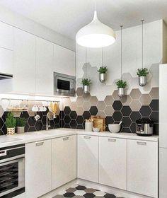 New Kitchen Tile Backsplash Cream Sinks Ideas Kitchen Flooring, Kitchen Countertops, Kitchen Cabinets, Kitchen Backsplash, Backsplash Ideas, Dark Cabinets, Tile Ideas, Mosaic Ideas, Kitchen Island
