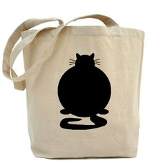 Fat Cat Tote Bag - love the simple silhouette and handy tote!