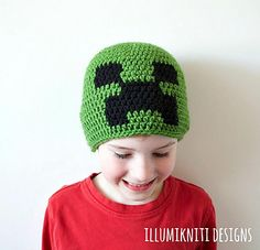 Fans of the children's video game, Minecraft, will love The Exploding Creep pattern. Made to look like the Creeper, this hat will be a favourite of your little one.