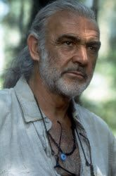 Sean Connery in the Medicine Man.