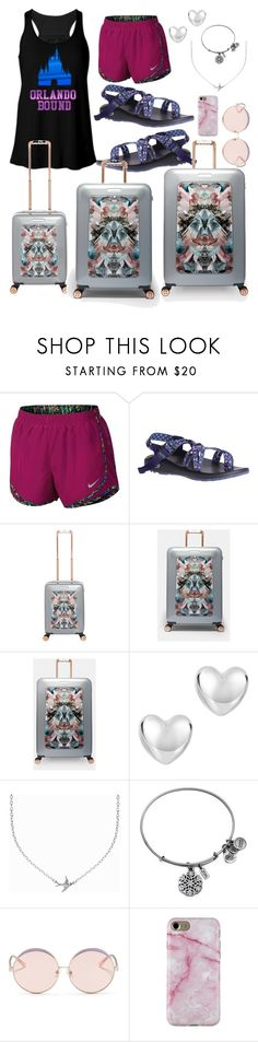 """""""Orlando Bound- Anna"""" by jporter2 ❤ liked on Polyvore featuring NIKE, Chaco, Ted Baker, Minnie Grace, Alex and Ani and N°21"""