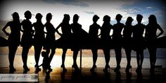 silhouetted beauties