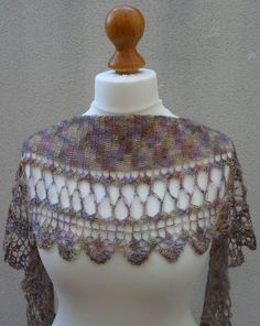 It is an original design of a shawl. This shawl is inspired by the the Mediterranean Sea.  The body of the wrap begins with a small number of stitches and then gradually increases. After the widest point is reached, the number of stitches gradually decrease until a very long triangle is achieved. The different lace patterns within the piece make it interesting, and the simplicity of the shaping allows for personal adjustments, dependent on yarn and size required. The pattern is very easy to…