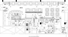 Commercial kitchen planning and design. Cafe Floor Plan, Restaurant Floor Plan, Restaurant Layout, Kitchen Floor Plans, Floor Plan Layout, Restaurant Kitchen, Kitchen Flooring, Restaurant Design, Hotel Kitchen