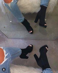 Women Heels Aesthetic Big Shoes Black Pump Heels Footwear For Women Navy Blue Heels Vegan Sandals Black Platform Pumps Navy Blue Heels, Black Pumps Heels, Black Shoes, Wedge Heels, Shoes Heels, Heeled Boots, Bootie Boots, Shoe Boots, Ankle Heel Boots