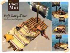 Raft Navy Love CHEZ MOI #chezmoifurnitures #secondlife #sl #mesh #design #decor #garden