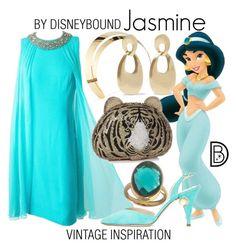 """Jasmine"" by leslieakay ❤ liked on Polyvore featuring Lelet NY, Kenneth Jay Lane, Nicholas Kirkwood, vintage, disney, disneybound and disneycharacter"