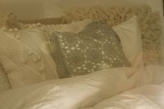 lace pillowcases.
