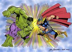 Thor vs Hulk by Sal Buscema Thor vs Hulk