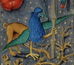 """Encadrement de page au griffon - dans """"Guiron le Courtois"""", Belgique, vers 1575-1500. BNF, Manuscrits, Français 363 fol. 1"""