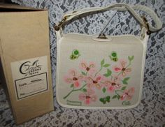 Vintage ENID COLLINS of Texas Jeweled DOGWOOD Purse in ORIGINAL BOX