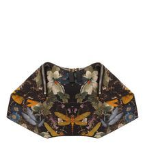 Kinda in love with this McQueen Yellow Dragonfly Print De-Manta Clutch