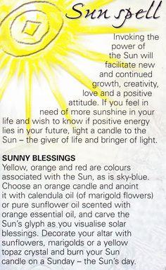 Magick Spells: Sun #Spell.