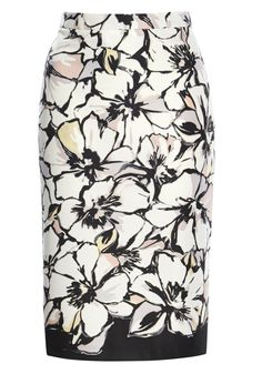 Clothing at Tesco | F&F Floral Print Scuba Pencil Skirt > skirts > F&F > All Brands