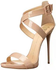 Trendy High Heels For Ladies : Giuseppe Zanotti Women's Cross Strap Dress Sandal, Ver Blush, 7 M US Dream Shoes, Crazy Shoes, Me Too Shoes, Pretty Shoes, Beautiful Shoes, Gorgeous Heels, Hot Shoes, Shoes Heels, Giuseppe Zanotti Heels