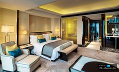 Comfort abounds in this hotel suite (St. Regis Luxury Hotel, Shenzhen, China) - Hotel Rooms to Inspire Your Bedroom Design
