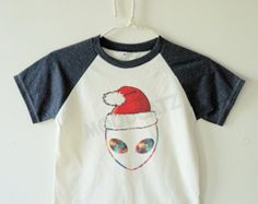 Christmas Galaxy Alien shirt galaxy shirt graphic christmas tee shirt kids baseball shirt short sleeve kids shirt toddler shirt youth shirt