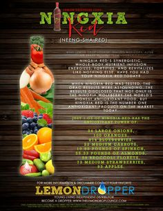 Young Living Essential Oils antioxidant drink Ningxia Red and it's benefits! www.ylwebsite.com/chelseayoung