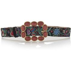 Roberto Cavalli Sfera Fashion Belt in Enchanted Garden (16.015 ARS) ❤ liked on Polyvore featuring accessories, belts, red belt, roberto cavalli belts, embroidered belt, buckle belt and roberto cavalli