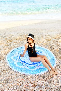 This amazing beach towel designed by @MandalaLifeART is available in our shop. Its so soft and thick