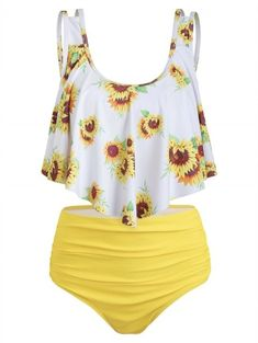 Women Tankini Sets,Jchen Ladies Dinosaur Print Swimsuits Tankini Tops with High Waist Ruched Shorts Beach Bathing Suit