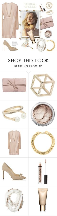 """Neutral Ground"" by rever-de-paris ❤ liked on Polyvore featuring LULUS, Topshop, Witchery, STELLA McCARTNEY, Bare Escentuals, Yves Saint Laurent, Charlotte Russe, Michael Stars and Clarins"