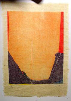 """Helen Frankenthaler, """"East and Beyond with Orange"""" 1937-74"""