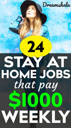 21 Genuine Work At Home Jobs That Pay Weekly - Dreamshala - - Want to make some extra money every week? Then check the list of 21 genuine work at home jobs that pay weekly and start working on the best one you choose. Online Surveys For Money, Earn Money From Home, Stay At Home, Work From Home Moms, Earn Money Online, Make Money Blogging, Online Jobs, Way To Make Money, Money Today