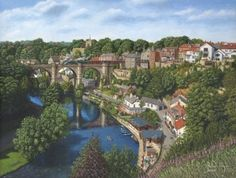 """Knaresborough, Yorkshire"" - Originals - Richard Harpum British Paintings - Richard Harpum 