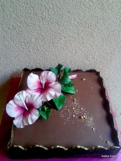 Chocolate cake with hybiscus 2