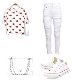"""white and red"" by kamaria-diani ❤ liked on Polyvore"