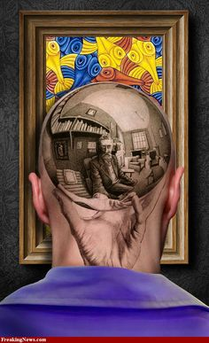 Wouldnt get this on my head- but how awesome! Escher tattoo reproduction.