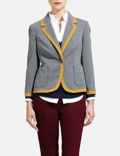 Just bought the grey/mustard and the navy/white for my princess whom I love to surprise via pinning :) Couldn't decide, so purchased both.The Limited - Tipped Knit Jacket: $108.00