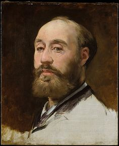 Édouard Manet (French, 1832–1883). Head of Jean-Baptiste Faure (1830–1914), 1882–83. The Metropolitan Museum of Art, New York. Gift of Mrs. Ralph J. Hines, 1959 (59.129) #mustache #movember