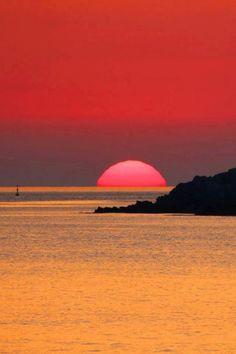 tramonto sul mare - Lipari