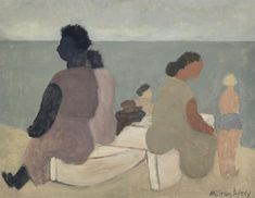 Milton Avery (American, 1885-1965), Sitters by the Sea, 1933. Oil on canvas, 71.4 x 91.8 cm.