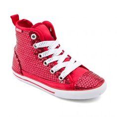 Shangri-La, Red Sequin Zip-up Canvas Girls Shoes Shangri La, Girls Shoes, Our Girl, Partner, Converse Chuck Taylor, Zip Ups, High Top Sneakers, Shoe Boots, Sequins