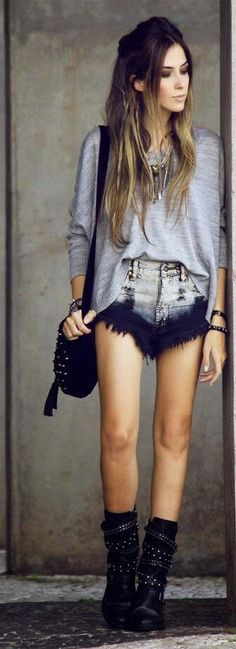 Love her shorts*